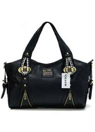 Coach In Embossed Medium Black Totes DFX   Cheap Coach Outlet Online -  Genuine Coach Handbags Sale