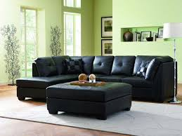 black leather sectional sofa with chaise and ottoman coffee table photo gallery of elegant sectional