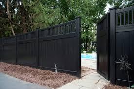 black vinyl privacy fence. Illusions Black Vinyl Pvc Privacy Matte Finish Fencing Panels 3 Fence K