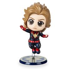 Marvel's <b>Captain Marvel</b> Cosbaby Bobble-Head Figure by <b>Hot</b> Toys ...