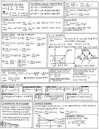 calculus cheat sheet i made a sheet much like this when re teaching myself