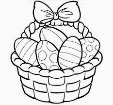 Small Picture Easter Egg ClipArt Black and White Image Coloring Pages