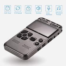 Satın Al 8GB 16GB 32GB Profesyonel Ses LCD Ekran HD Taşınabilir Mini  Gürültü Reducation Dictaphone Sahip Dijital Ses Kayıt Cihazı Aktif,  TL214.68