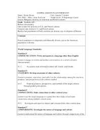 sample lesson plan outline obe lesson plan format