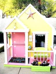 best outdoor playhouse playhouses for kids compact tidy outdoor playhouse we love the yellow and pink color combo interior playhouses for kids outdoor