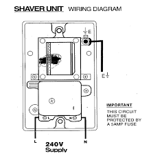 fitting an electrical shaver point how to fit a shaving socket wiring diagram for shaver socket