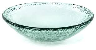 recycled glass textured large serving bowl bowls extra plastic contemporary and salad