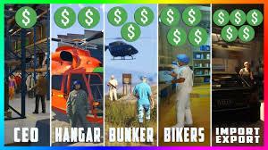 Gta 5 Biker Business Payout Chart Gta Online Business Guide Top 5 Best Business To Buy Ceo Vs Import Export Vs Bikers Vs Bunkers