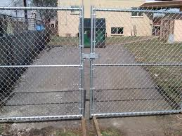 chain link fence double gate. Chain Link Fence Double Gate P