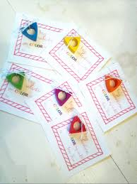 Crayon Rings More Non Candy Valentines For Kids Feathers In Our Nest