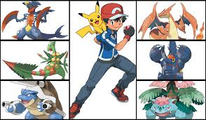 If Ash evolved his pokemon, he'd have a badass mega evolution team : pokemon
