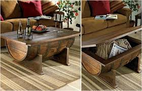 wood barrel furniture. Barrel-coffe-table-2 Wood Barrel Furniture A