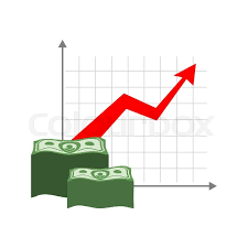 Graph Growth Money Red Up Arrow Stock Vector Colourbox