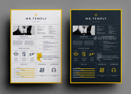 Most Visual Resume Templates Alluring Template Download 35 Free