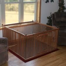 indoor dog fences wood