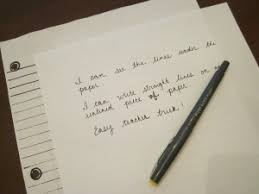 Writing In A Straight Line On Unlined Paper Theroommom
