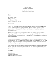 Sample Thank You Letter For Meeting Confirmation