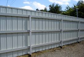 sheet metal fence.  Fence Residential Fencing Gallery Inside Sheet Metal Fence E