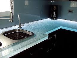 image of nice glass tile countertop