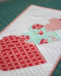 798 best Quilting tips, ideas, patterns images on Pinterest ... & I Heart You Mini Free Pattern - valentine's day quilt tutorial for a wall  hanging Adamdwight.com