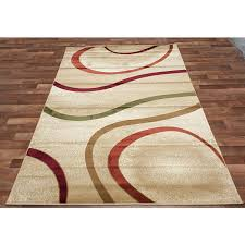 Orange And Green Area Rugs Modern Tangy Swirls Rug In Beige