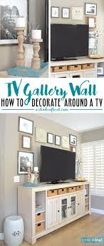 TV Gallery Wall; How to Decorate Around a TV