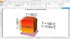 Ansys , THERMAL MIXED BOUNDARY CONDITION , problem 30 as per vtu ...