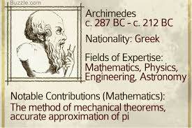 famous mathematicians who have left their impact on the world archimedes