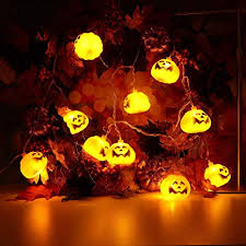 Halloween party lighting Yard Image Unavailable Amazoncom Amazoncom Highpot Pumpkins String Lights Solar Powered Halloween