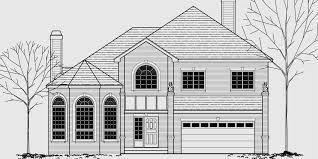 brick house plans curved stair case attic dormer small castle house plans 9946