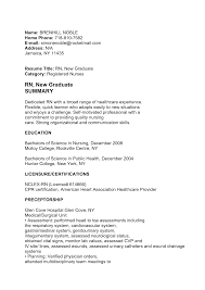 Useful Nursing Resume New Grad Sample In Graduate Rn Lpn Nurse