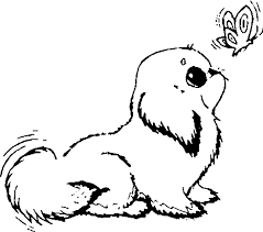 Coloring Pages Of Dogs Best Baby Baby Dog Coloring Pages Free 1170