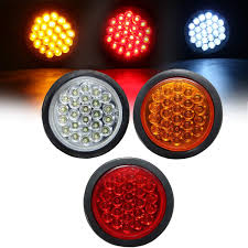 Yellow Round Light Zhenwocai 24 Led Red White Yellow Round Rear Tail Stop Light