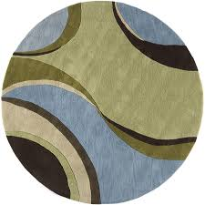 6 ft round rug. Rugs America 6-ft Round Jamison Sky Flores Area Rug 6 Ft R