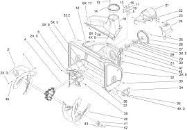 toro parts power max 1028 lxe snowthrower Yard King Snowblower Parts Diagram auger and housing assembly