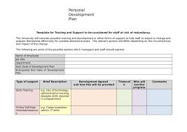 personal development plans sample professional development plan template professional development