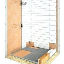 kerdi shower kit 32x60 showers shower with linear drain shower kit x off center drain schluter