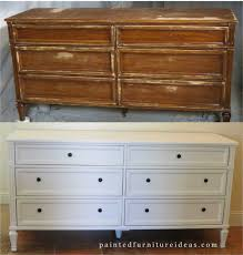 Painted Bedroom Furniture Before And After 60s Dresser Set Makeover Painted Furniture Ideas