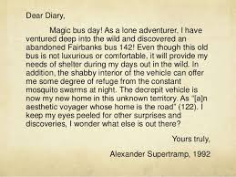 chris mccandless essay  nowservingco diary of chris mccandless