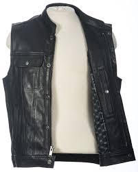 biker club vest leather cut