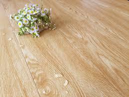 bamboo fiber wooden style floor tiles moisture proof light yellow wood grain