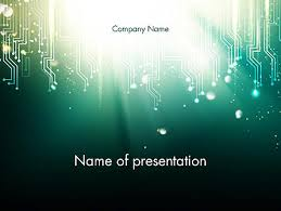 Powerpoint Circuit Theme Digital Circuit Board Abstract Powerpoint Template