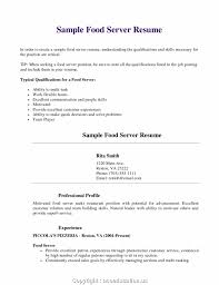 Food Server Resume New Resume New Food Server Resume Sample Examples Templates Fast