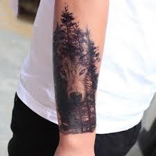временная татуировка большая временная водонепроницаемая татуировка черный