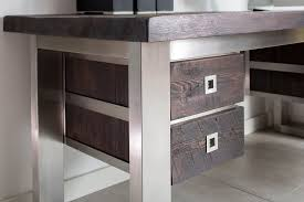 wood desks for home office. Reclaimed Wood Desks With Drawers For Home Office