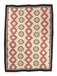 namoonon cream yellow red and black dhurrie rug