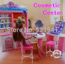 Free Shipping Pink Dream makeup Center dressing room doll
