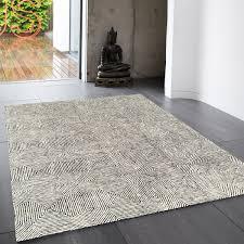 camden black white geometric wool rug by asiatic 1