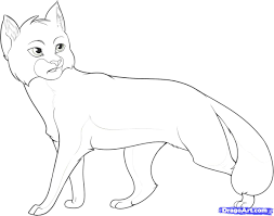 warrior cat drawing outline. Perfect Cat Warrior Cats Coloring Pages With Cat Drawing Outline S