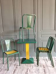 xavier pauchard french industrial dining room furniture. Industrial Green Dining Set By Xavier Pauchard For Tolix, 1950s French Room Furniture